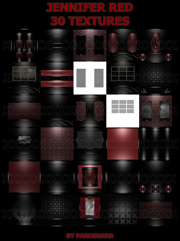 JENNIFER RED 30 TEXTURES FOR  IMVU ROOMS
