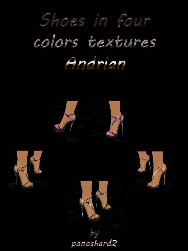 Shoes in four colors textures Andrian