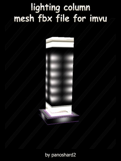 lighting column mesh file fbx for imvu