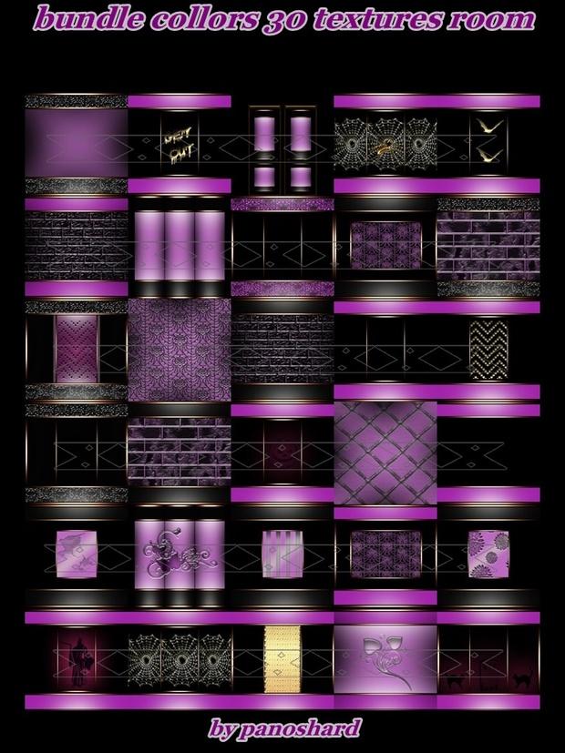 Bundle collors 30 textures imvu room