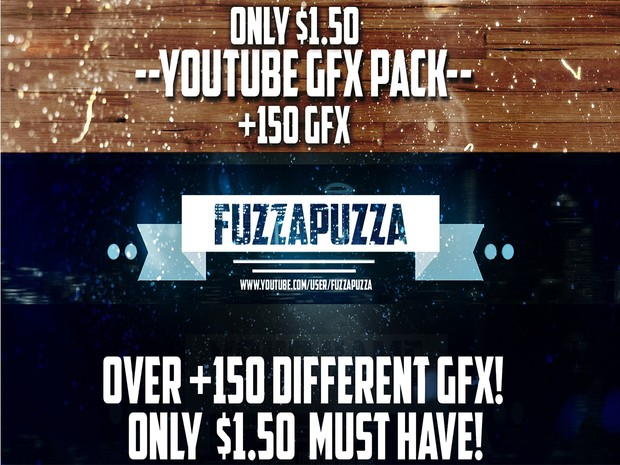 FuzzaPuzza's Huge Photoshop GFX Pack Over +150 Effects