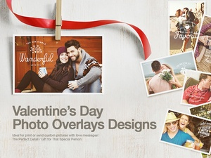 Valentine's Day Photo Badge Overlays