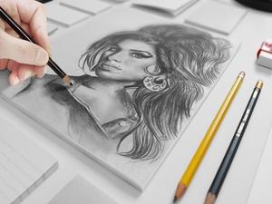 Sketch Mock-up PSD Freebie