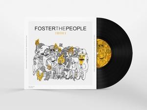Vinyl Disc Cover Art Mock-up PSD Freebie