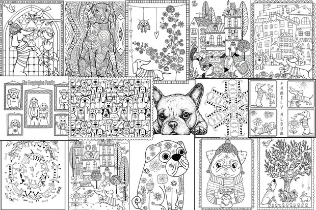 Artful Color Dog Crazy Coloring Pages For Adults In Aid Of Operation Lulu