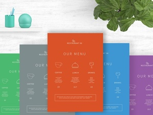 Clean Line Menu for Cafe PSD . Free PSD