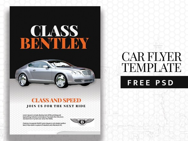 car flyer template free psd free flyer templates