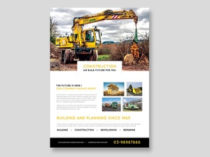Construction Flyer PSD Template - Free Download