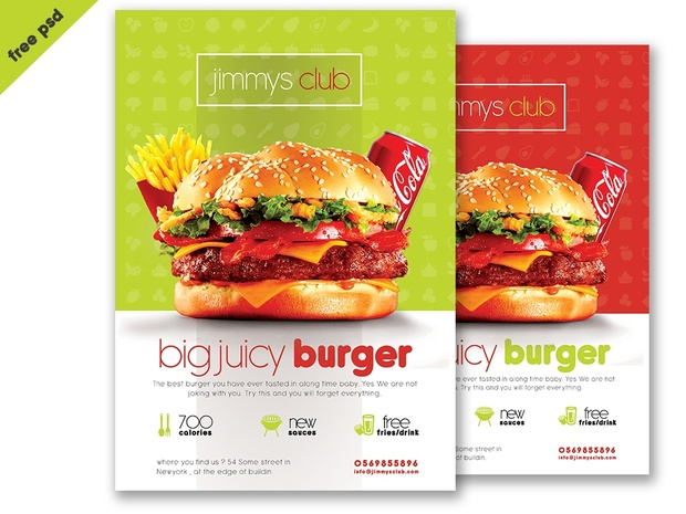 Free Burger Flyer Template Psd Template Download Fre