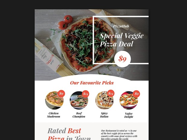 free pizza flyer template psd