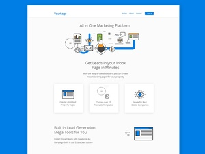 Modern Free Premium  Landing Page PSD Website Template