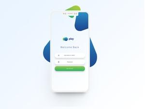 Free Modern Flat Login Mobile UI Screen PSD
