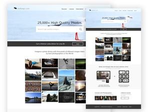 Free Stock Photo Marketplace PSD Template