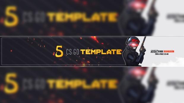 CS:GO Youtube Banner Template #2 - Slep Graphics