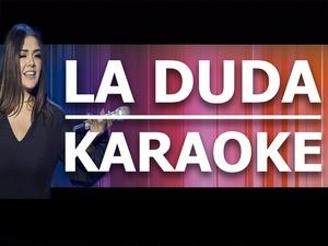La Duda - Yuridia - Karaoke
