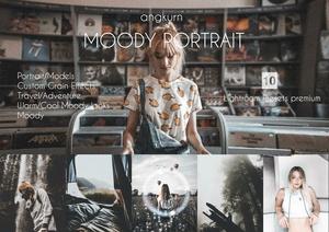 Moody portrait Lightroom presets by Angkurn