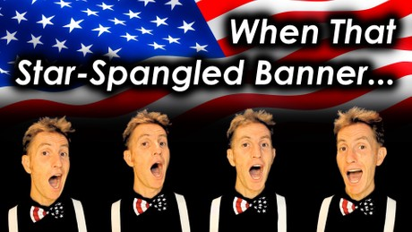 When That Star Spangled Banner Goes By