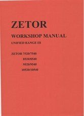 Workshop Manual for Zetor 7520 - 10540