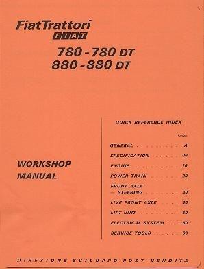 Verkstadshandbok Fiat Traktorer 780-880+DT