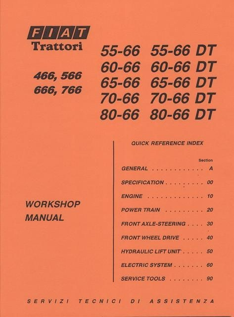 Verkstadshandbok - Workshop manual Fiat Tractors