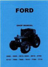 Verkstadshandbok Ford 5000 - 7710