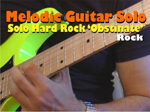 Melodic Hard Rock Solo To Play with Backing Track