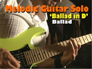 MELODIC GUITAR SOLO BALLAD IN D