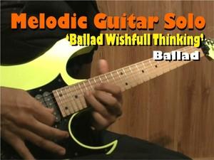 MELODIC GUITAR SOLO BALLAD BASED ON WISHFULL THINKING - PETRUCCI