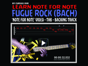 TOCCATA & FUGA ROCK (BACH) - DOWNLOAD NOTE FOR NOTE VIDEO+TAB+BACKING TRACK