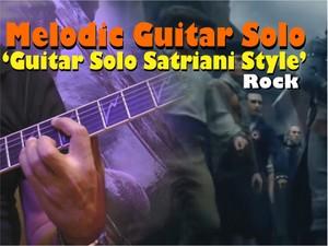 MELODIC GUITAR SOLO ROCK SATRIANI STYLE I