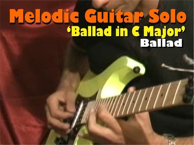 MELODIC GUITAR BALLAD SOLO PIANO IN C