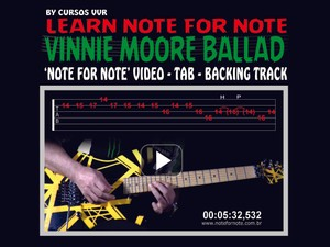 FROM NOW ON MELODIC BALLAD - DOWNLOAD NOTE FOR NOTE VIDEO+TAB+BACKING TRACK