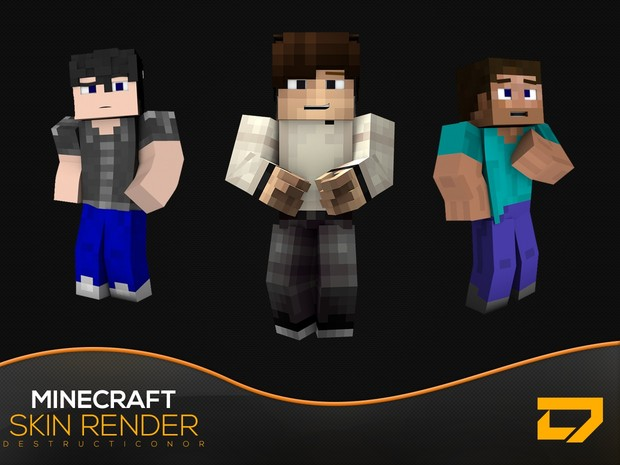 Minecraft Skin Render (Currently Not Selling)