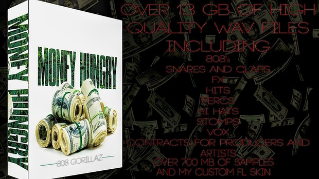 MONEY HUNGRY DRUM KIT *ON SALE NOW*
