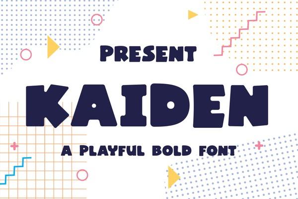 Kaiden Typeface - A Playful Bold Font