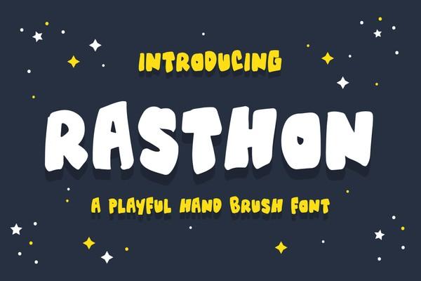 Rasthon - A Playful Hand Brush Font