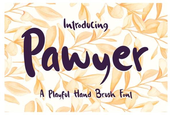 Pawyer - A Playful Hand Brush Font