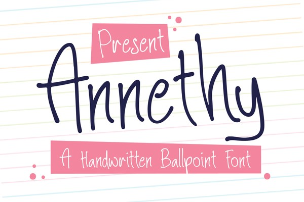 Annethy - A Handwritten Ballpoint Font