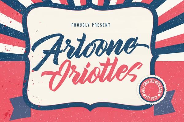 Artoone Oriottes - A New Casual Script Brush Typeface