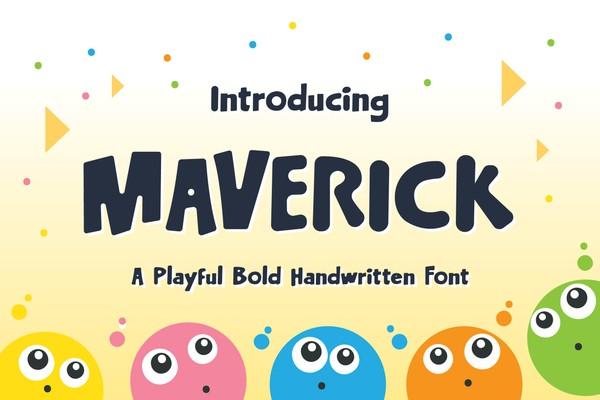 Maverick Typeface - Playful Bold Handwritten Font