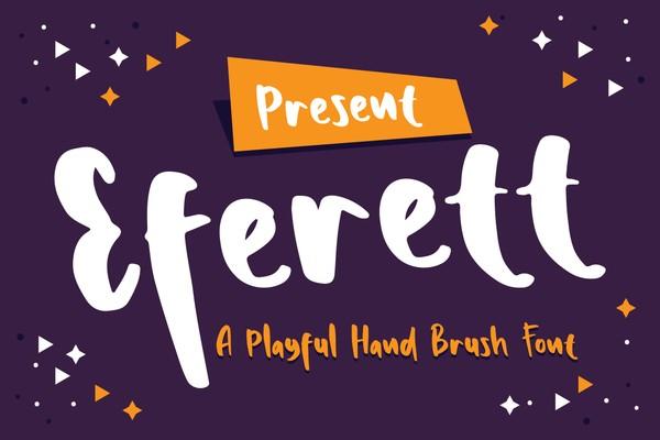 Eferett - A Playful Hand Brush Font