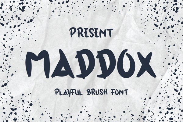Maddox Typeface - A Playful Brush Font