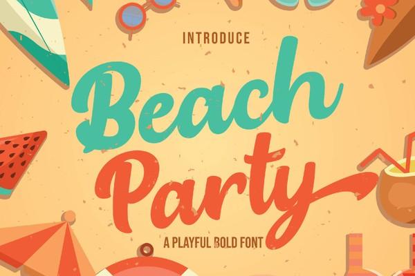 Beach Party - Playful Bold Font