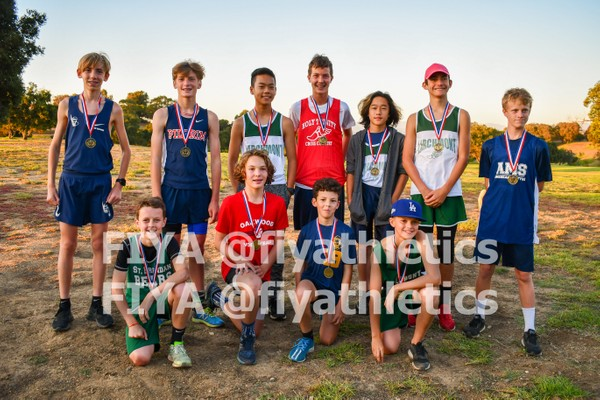 Boys Division 1 Medalists (10/2 Meet @ Kenneth Hahn)
