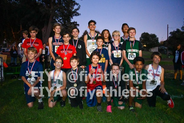 Boys Division 1 Medalists (10/30 Meet @ Edward Vincent)