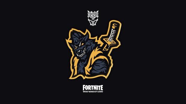 Fortnite Wolf Mascot Logo