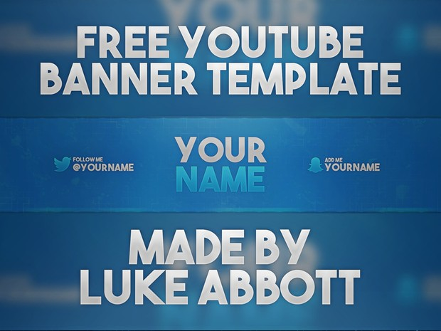 FREE Youtube Banner Template Photoshop | LukeAbboGFX - Sellfy.com