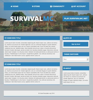 MultiFront: Multipurpose Minecraft HTML Template