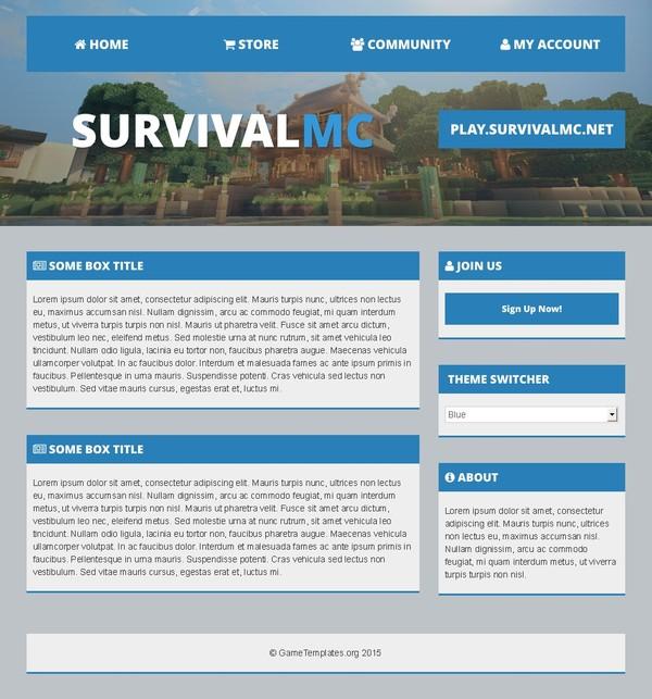 MultiFront: Multipurpose Minecraft HTML Template