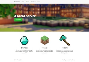 ToonCraft: Minecraft WordPress Theme
